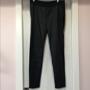 H&M Faux Leather Leggings with seamed knees